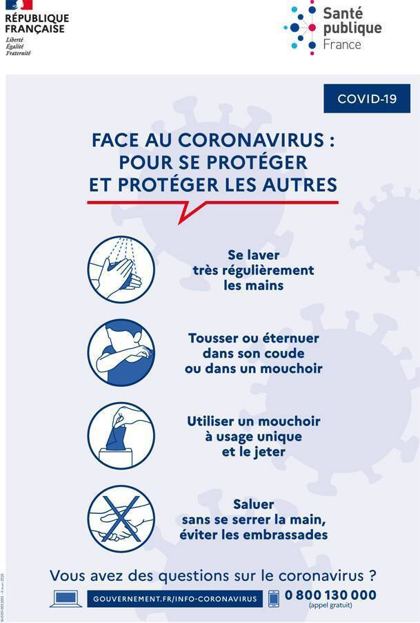 affiche covid19 gestes